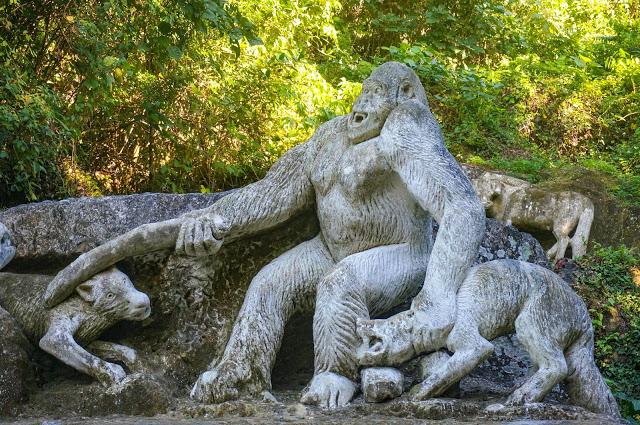Wolfs andgorilla